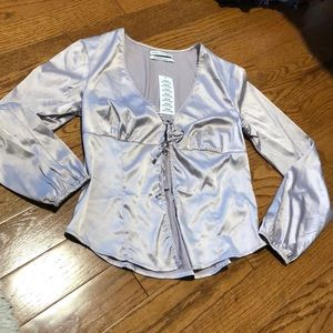 NWT Silk Urban Outfitters tie top